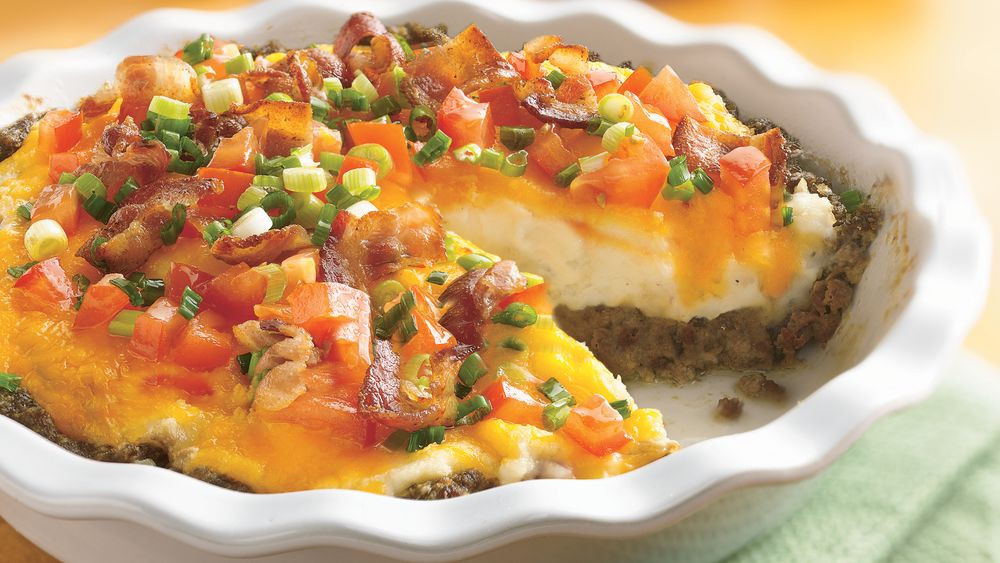 Recipes With Ground Beef And Potatoes  Ground Beef and Twice Baked Potato Pie Recipe Pillsbury