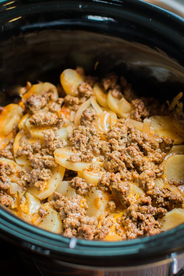 Recipes With Ground Beef And Potatoes  Slow Cooker Beef and Potato Au Gratin The Magical Slow