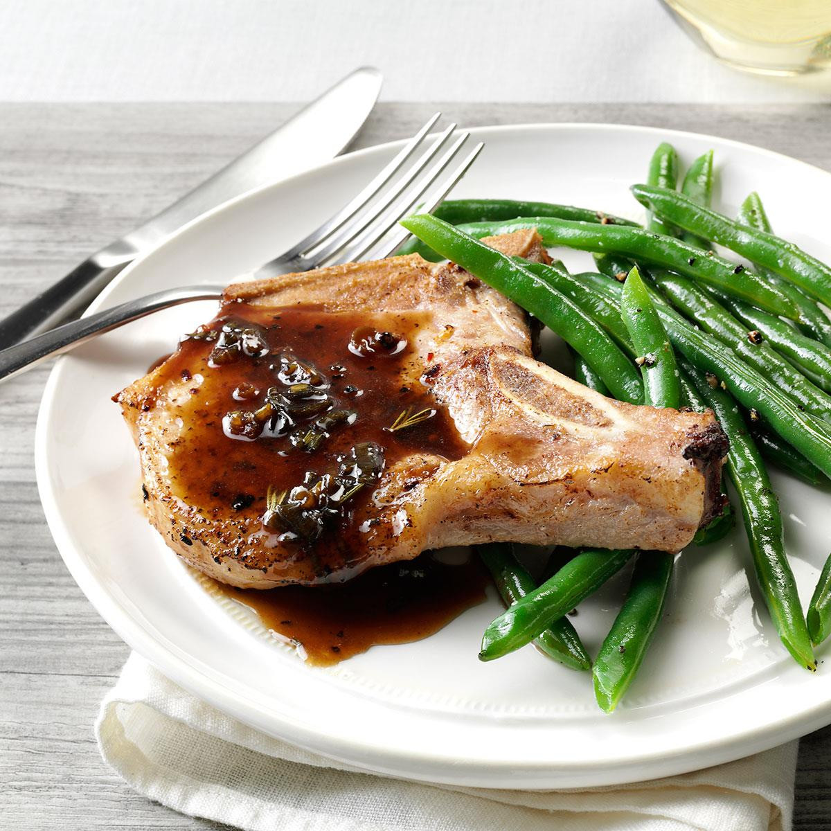 Recipes With Pork Chops  Pork Chops with Honey Balsamic Glaze Recipe