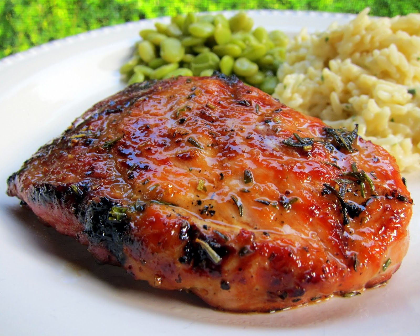 Recipes With Pork Chops  Honey Rosemary Pork Chops