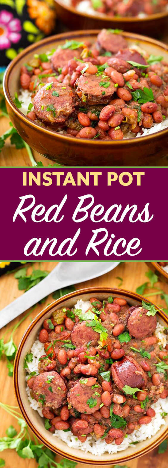 Red Beans And Rice Instant Pot  Instant Pot Red Beans and Rice with Sausage