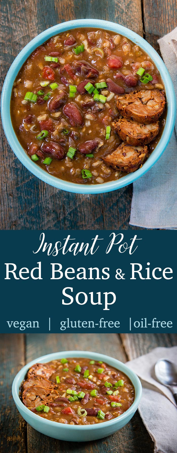 Red Beans And Rice Instant Pot  Instant Pot Red Beans and Rice Soup