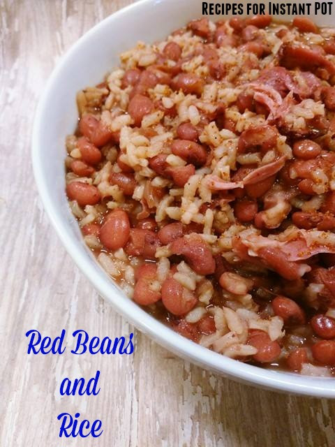Red Beans And Rice Instant Pot  Red Beans and Rice in the Instant Pot Recipes for