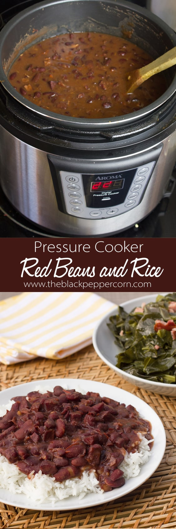 Red Beans And Rice Pressure Cooker  Red Beans and Rice Pressure Cooker Recipe Instant Pot