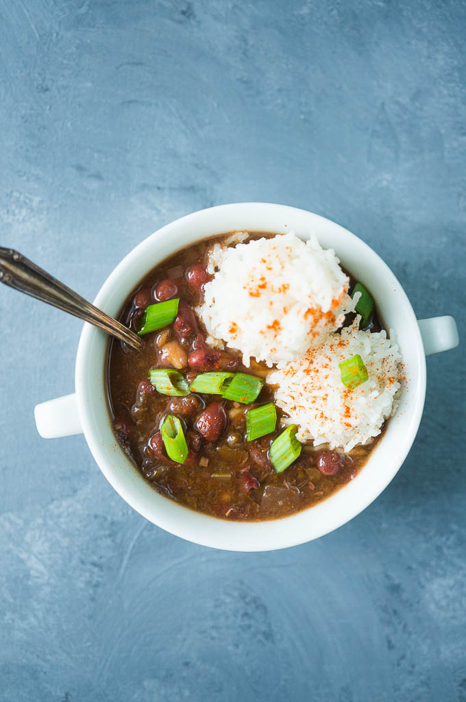 Red Beans And Rice Pressure Cooker  Pressure Cooker Ve arian Red Beans and Rice Kitschen Cat