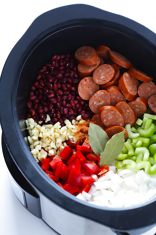 Red Beans And Rice Recipe Slow Cooker  Crock Pot Red Beans and Rice