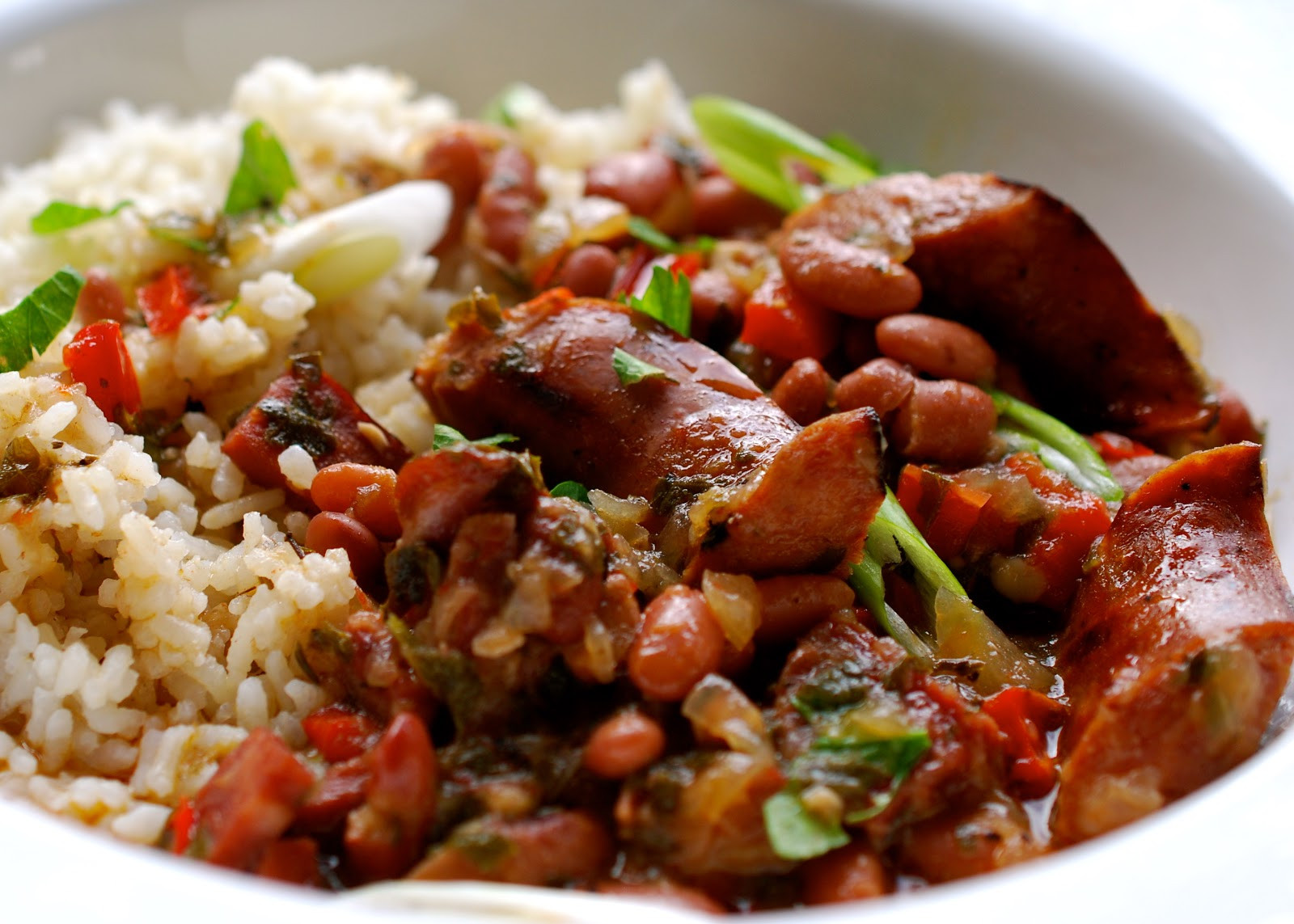 Red Beans And Rice With Sausage  Cooking with Larue Red Beans & Rice with Andouille Sausage