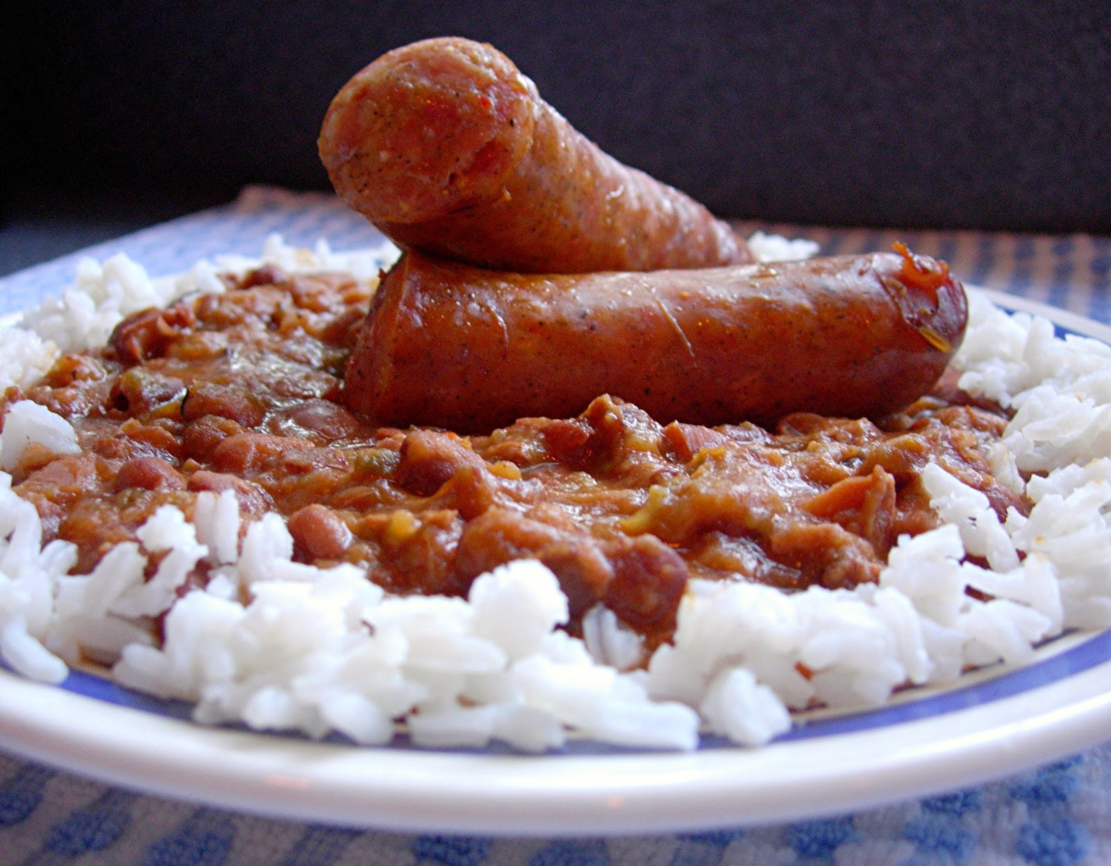 Red Beans And Rice With Sausage  Red Beans & Rice with Cajun Sausage Drick s Rambling Cafe