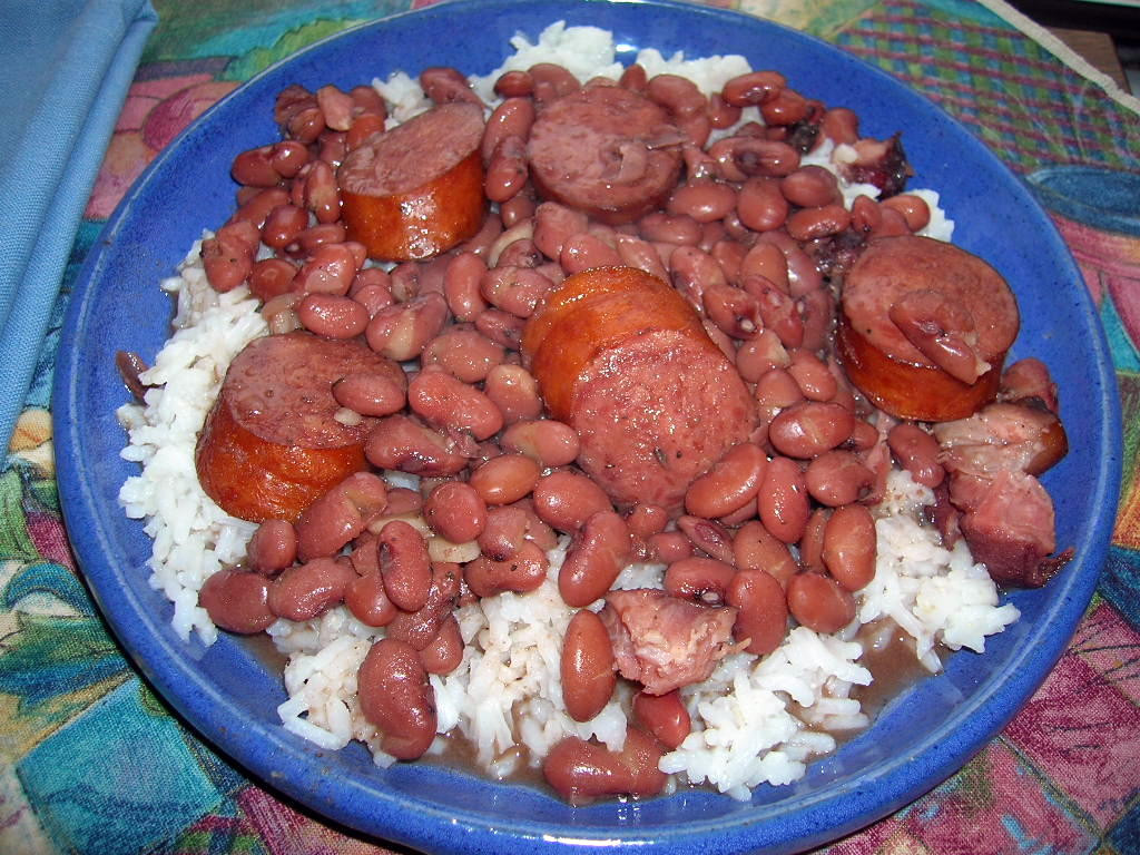 Red Beans And Rice With Sausage  Red Beans Smoked Sausage and Rice The Southern Lady Cooks