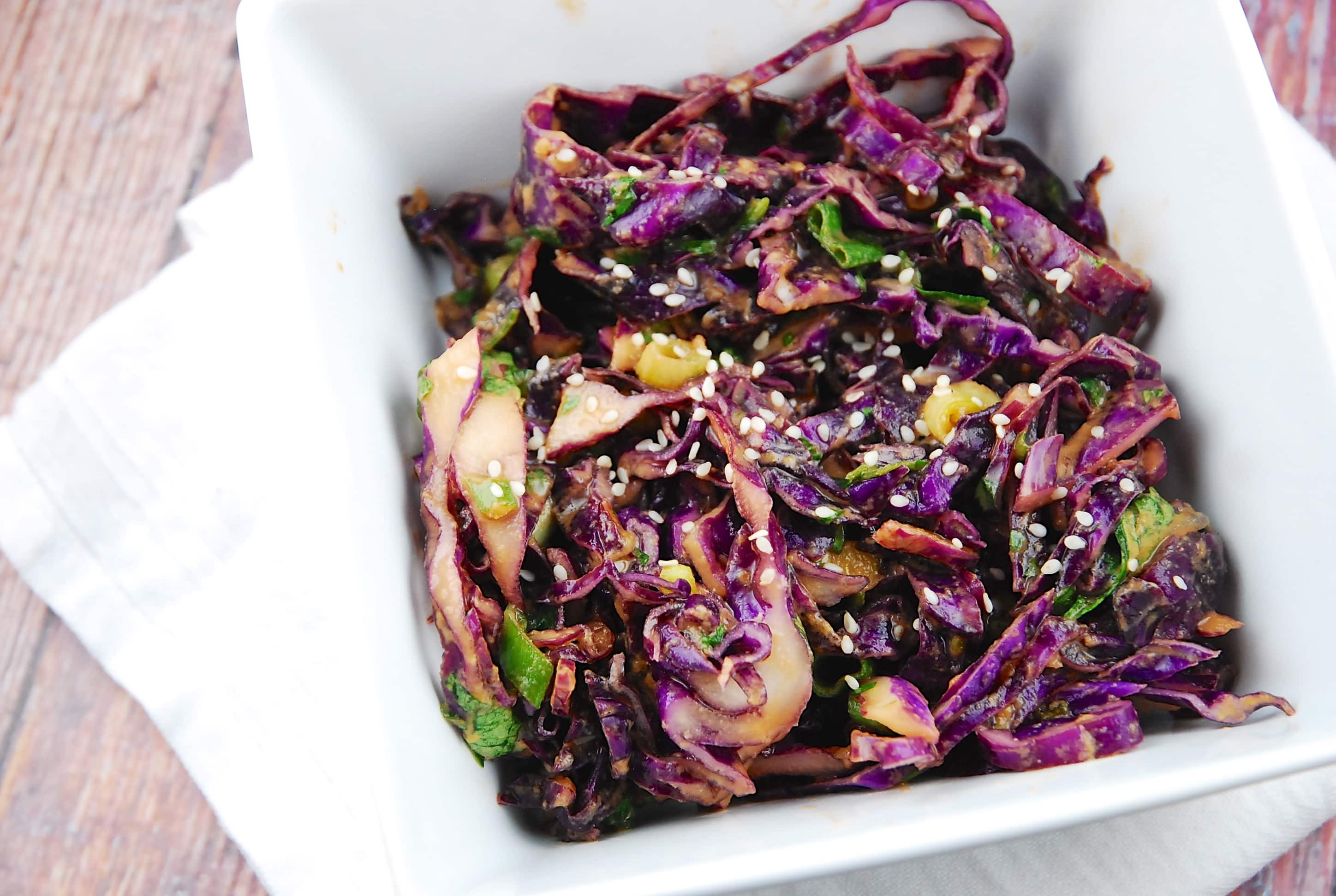 Red Cabbage Salad Recipes  Asian Red Cabbage Salad Recipe 3 Points LaaLoosh