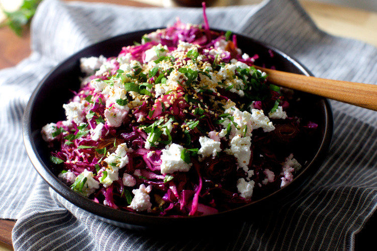 Red Cabbage Salad Recipes  date feta and red cabbage salad – smitten kitchen