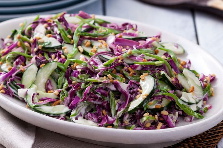 Red Cabbage Salad Recipes  Cucumber and red cabbage coleslaw salad