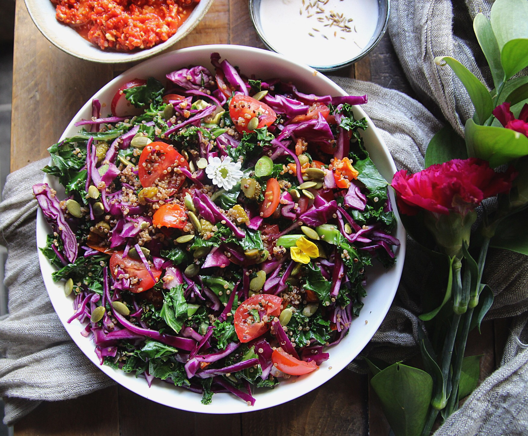 Red Cabbage Salad Recipes  Super Healthy Kale and Red Cabbage Salad