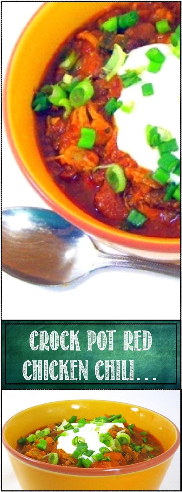 Red Chicken Chili Recipe  52 Ways to Cook Crock Pot Red Chicken Chili um Stew