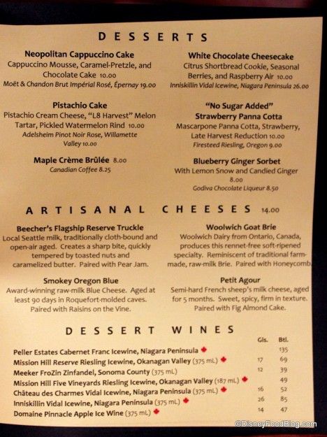 Red Lobster Dessert Menu  Review New Lunch Menu at Le Cellier Steakhouse in Epcot s