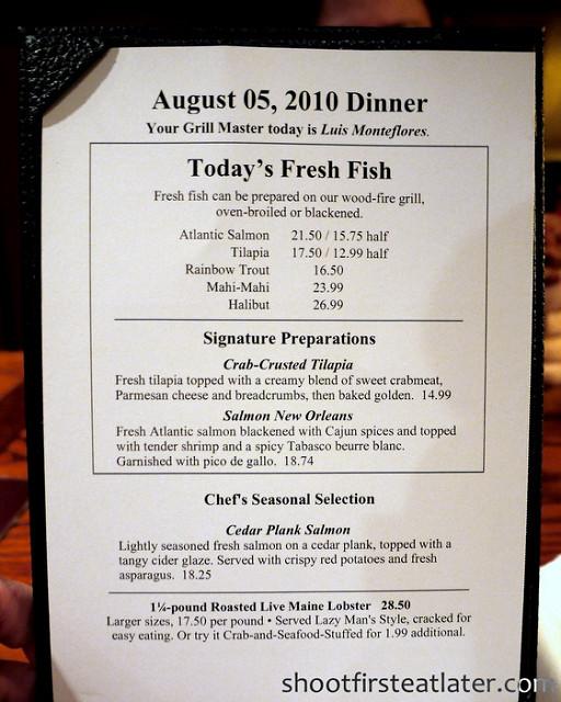 Red Lobster Dinner Menu  Red Lobster s dinner menu