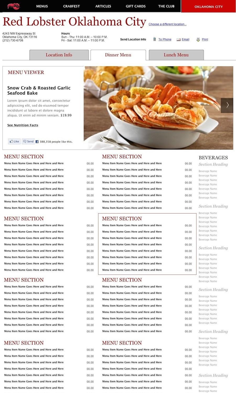 Red Lobster Dinner Menu  Red Lobster Menu With Prices 2018