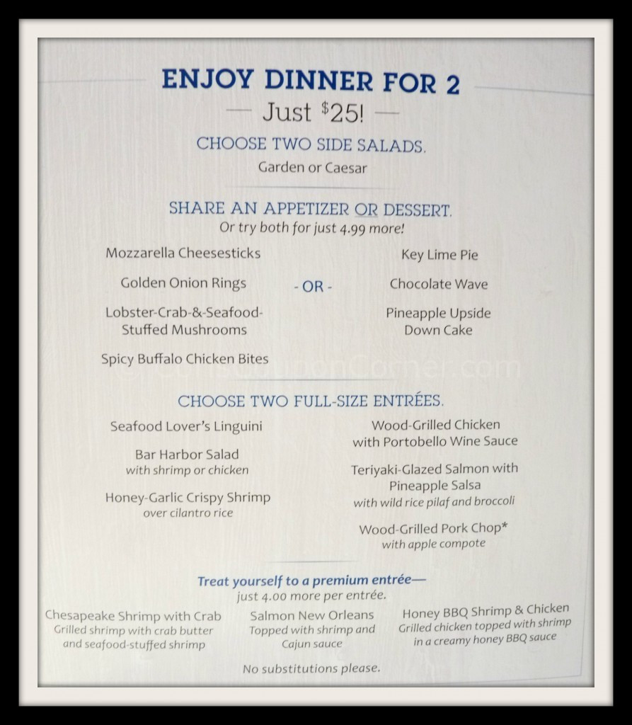 Red Lobster Dinner Menu  Red Lobster Seafood Dinner For Two ly $25 Cori s