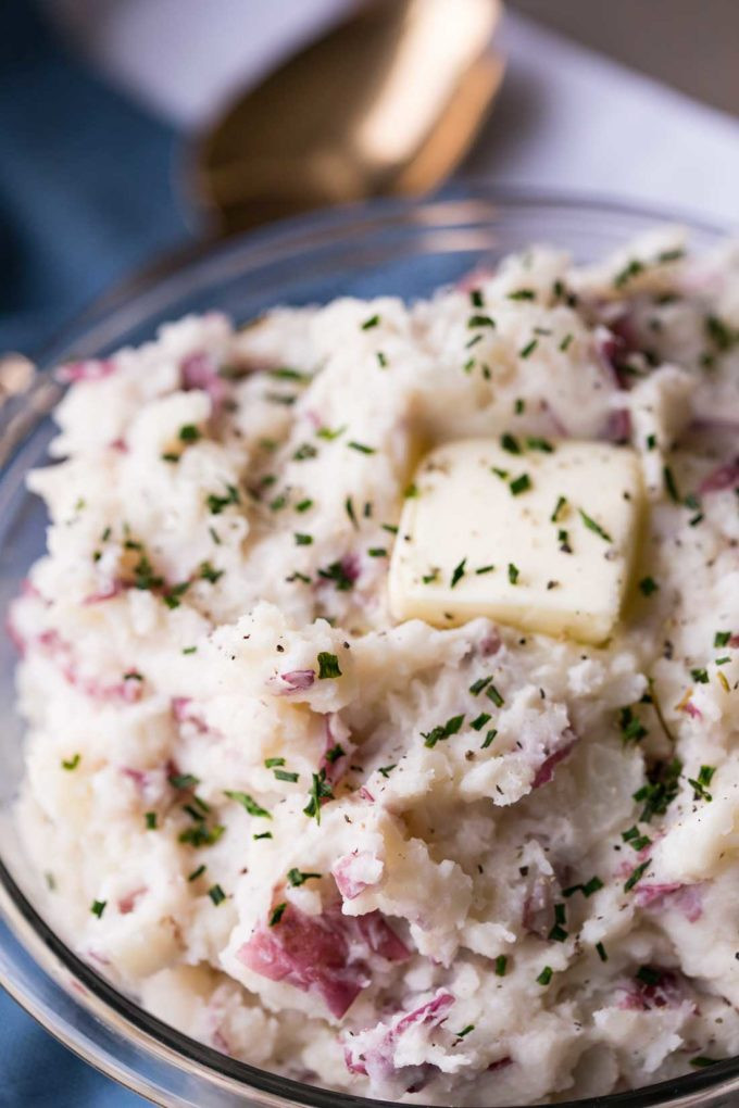 Red Mashed Potatoes  Super Easy Mashed Potatoes Easy Peasy Meals