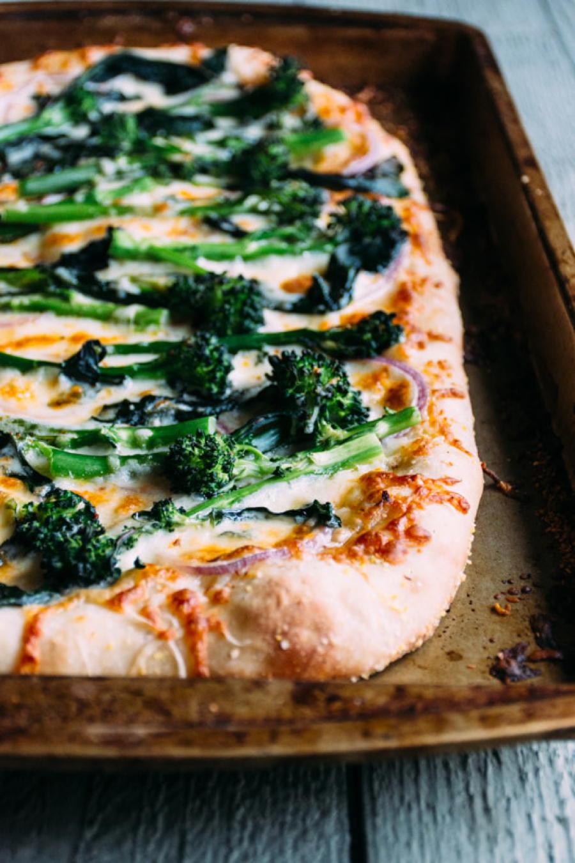 Red Onion Pizza  broccolini and red onion pizza nyssa s kitchen