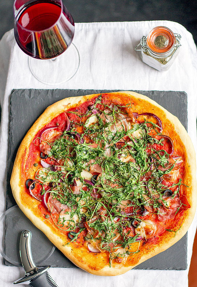 Red Onion Pizza  Parma ham rocket and red onion pizza Love the Kitchen