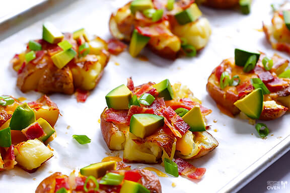 Red Potato Recipe  Loaded Smashed Red Potatoes