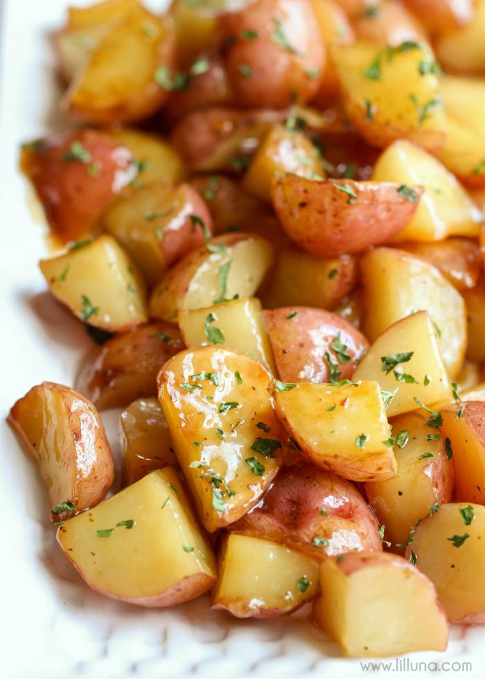Red Potato Recipes  Brown Sugar Glazed Red Potatoes recipe