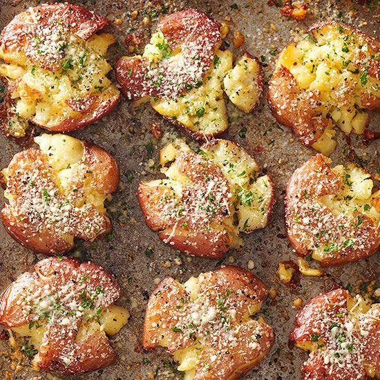 Red Potato Recipes  Fried Smashed Potatoes Recipe