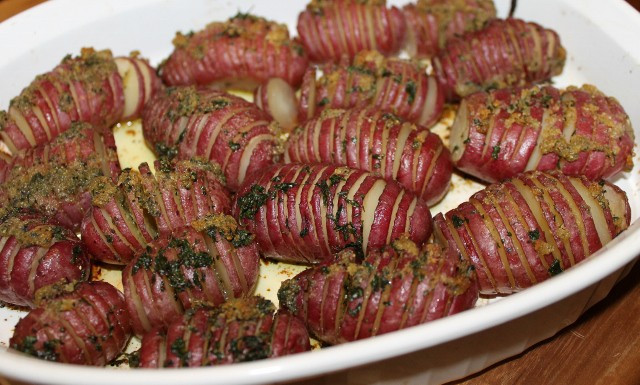 Red Potato Recipes  Hasselback Red Potatoes Premeditated Leftovers