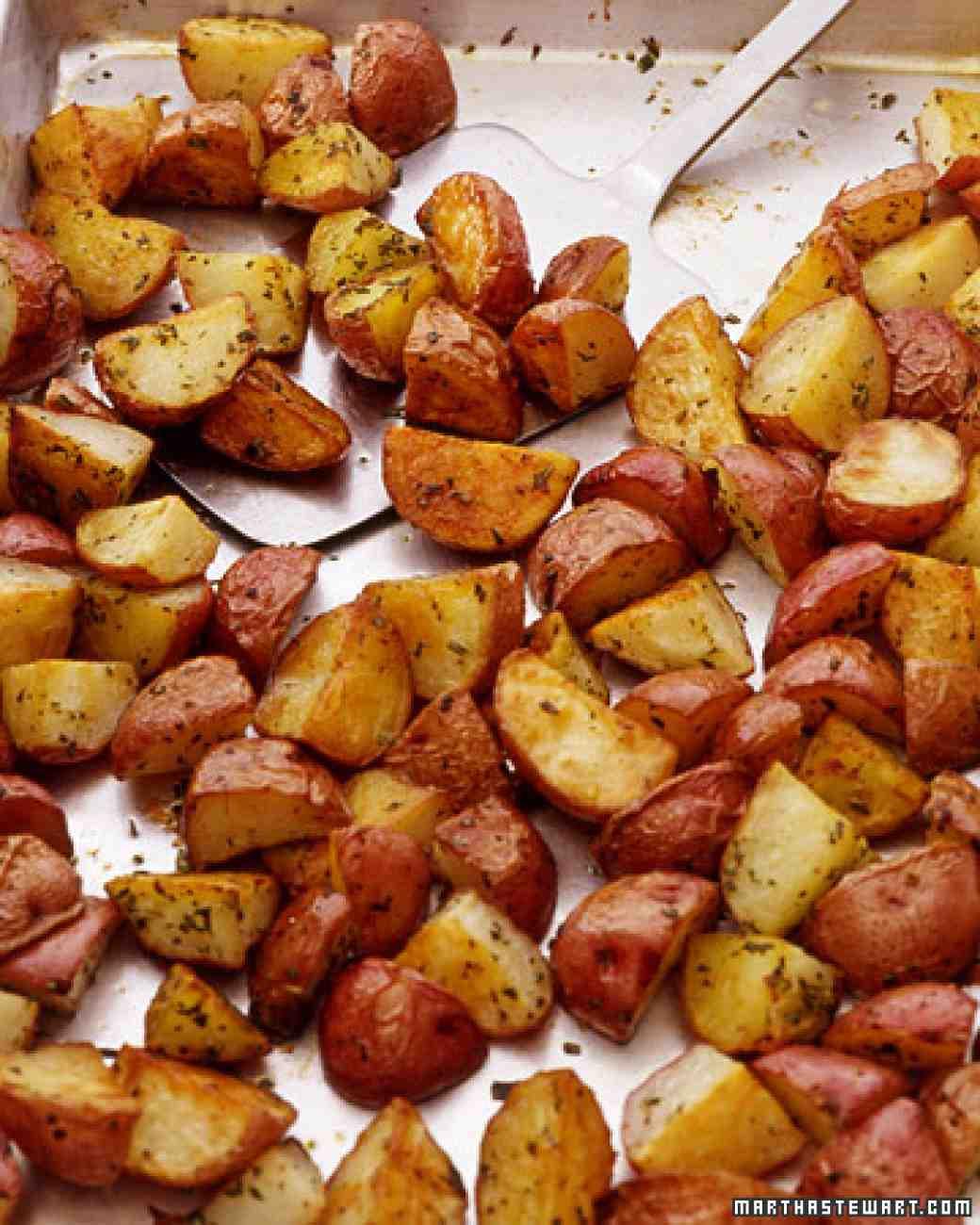 Red Potato Recipes  Oven Roasted Red Potatoes Recipe — Dishmaps