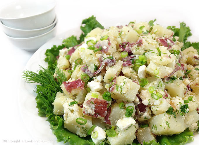Red Potato Salad With Dill  Fresh Dill Red Potato Salad with Feta No Mayo Through