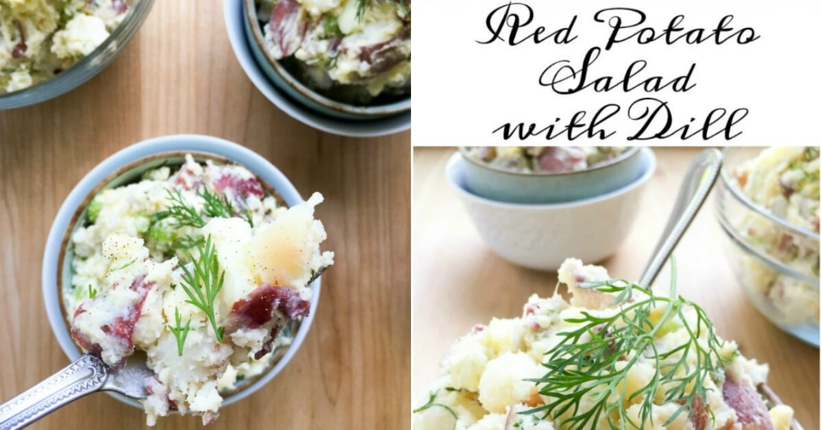 Red Potato Salad With Dill  Red Potato Salad with Dill Red Bliss Dijon Mustard Eggs