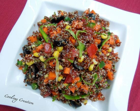 Red Quinoa Salad  Cooking Creation Red Quinoa & Ve able Salad
