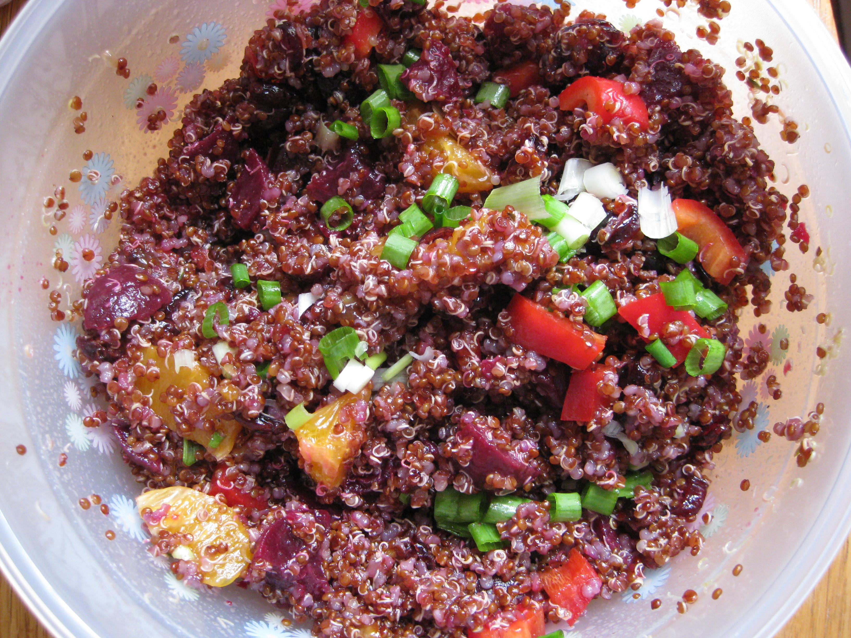 Red Quinoa Salad  Ruby Red Quinoa Salad