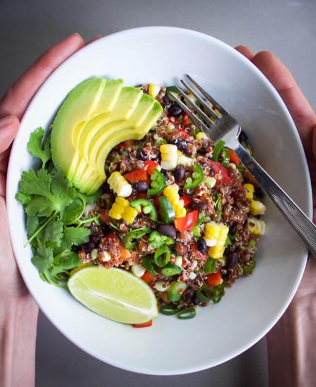 Red Quinoa Salad  Spicy Red Quinoa Salad