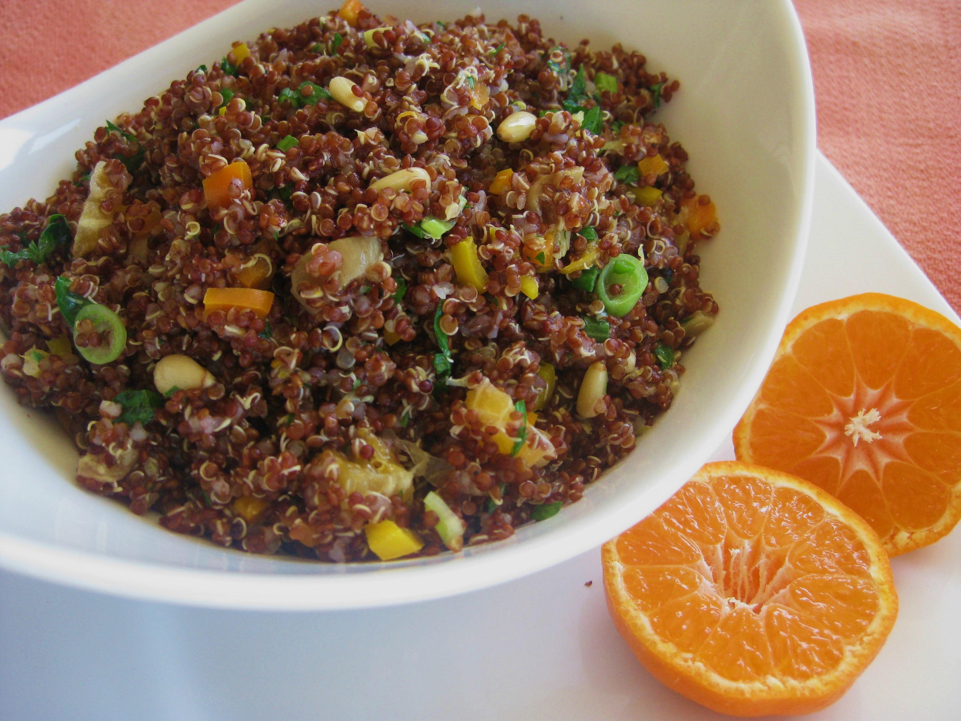 Red Quinoa Salad  Citrus Red Quinoa Salad