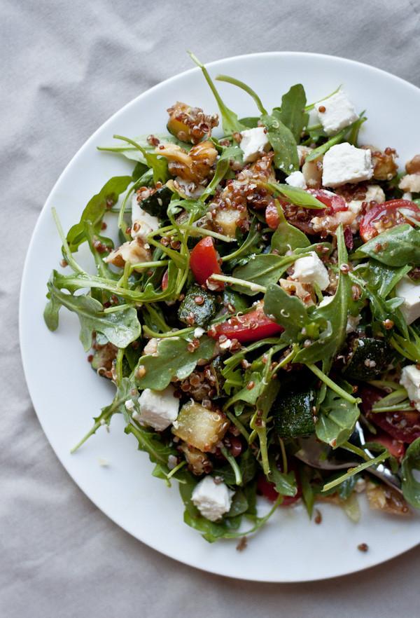 Red Quinoa Salad  Red Quinoa Arugula Salad A Beautiful Plate