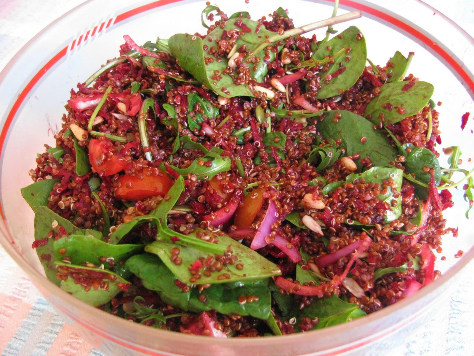 Red Quinoa Salad  Dear Asparagus Red quinoa salad