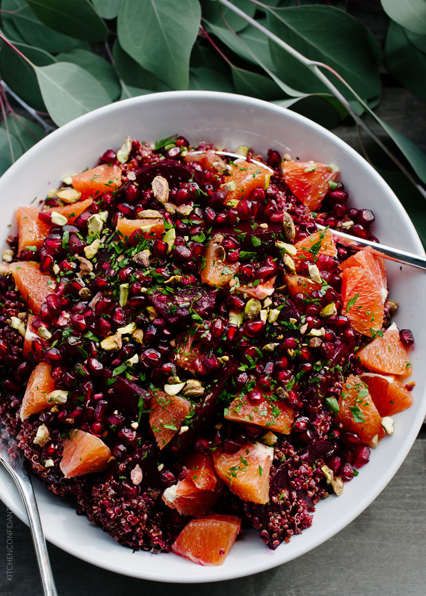 Red Quinoa Salad  Quinoa Salad with Roasted Red Beets Oranges and