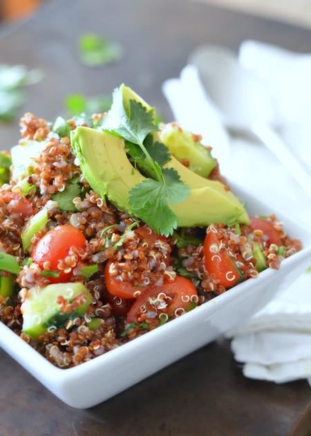 Red Quinoa Salad  Red Quinoa Lunch Salad Karista s Kitchen