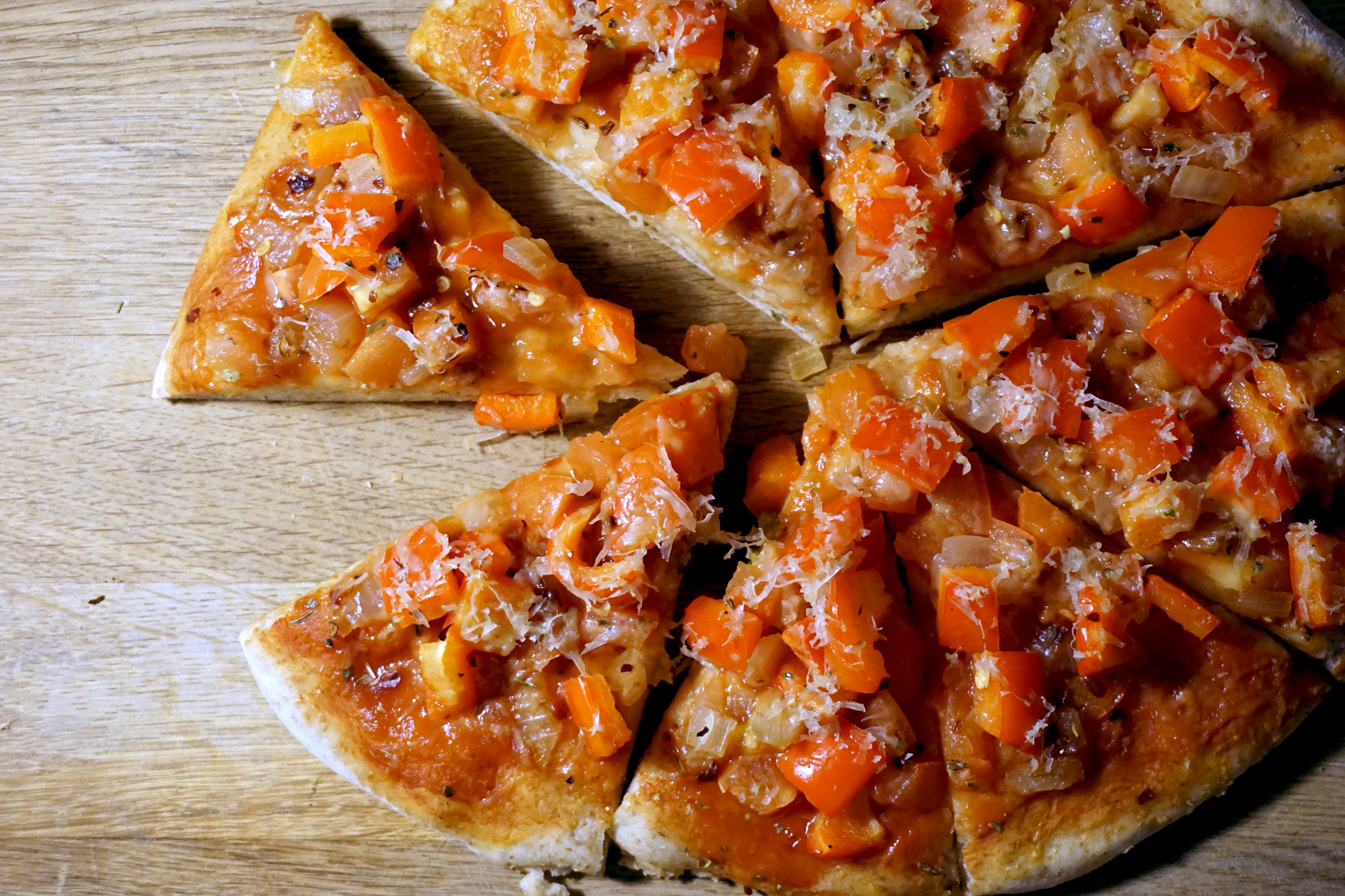 Red Tomato Pizza  red pepper tomato pizza – pass the parsnips