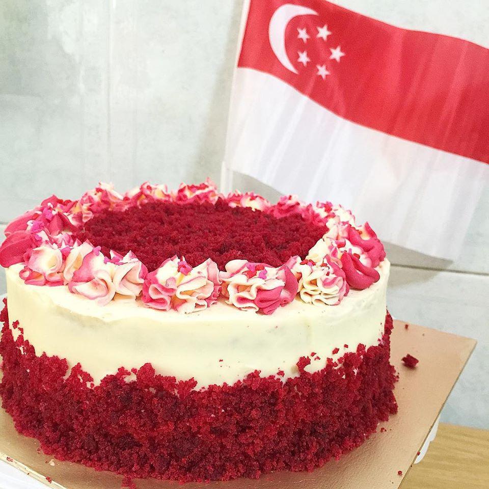Red Velvet Birthday Cake  SG50 Red Velvet Cake Sherbakes