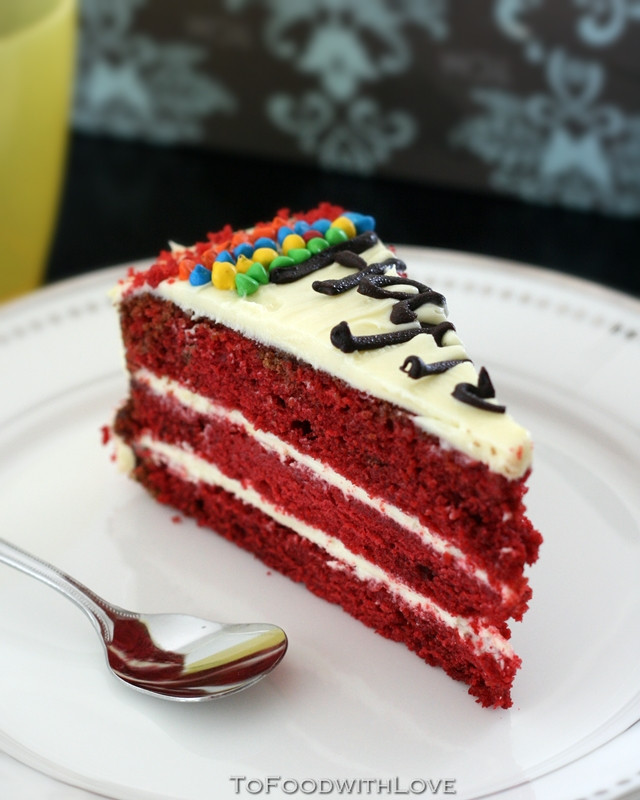 Red Velvet Birthday Cake  To Food with Love Red Velvet Birthday Cake