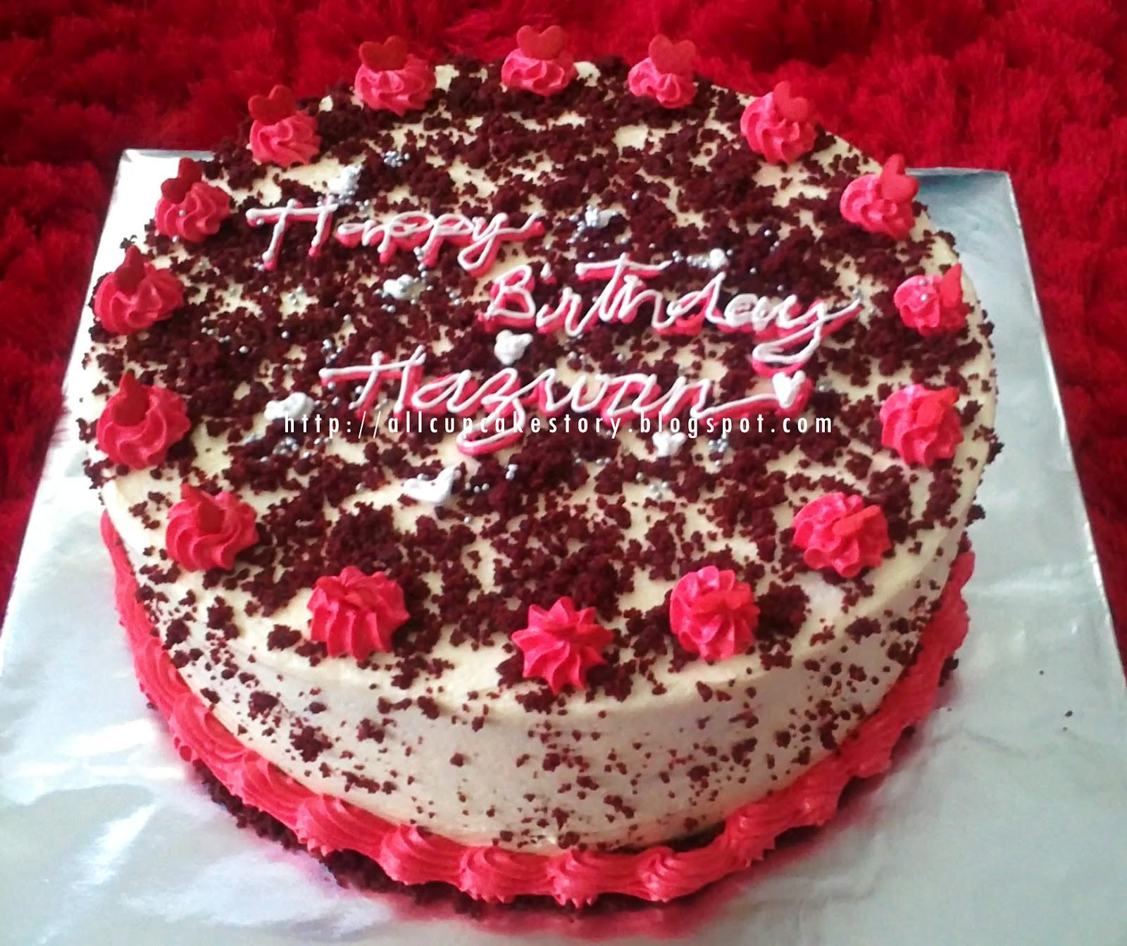 Red Velvet Birthday Cake  allcupcakestory Red Velvet Birthday Cake