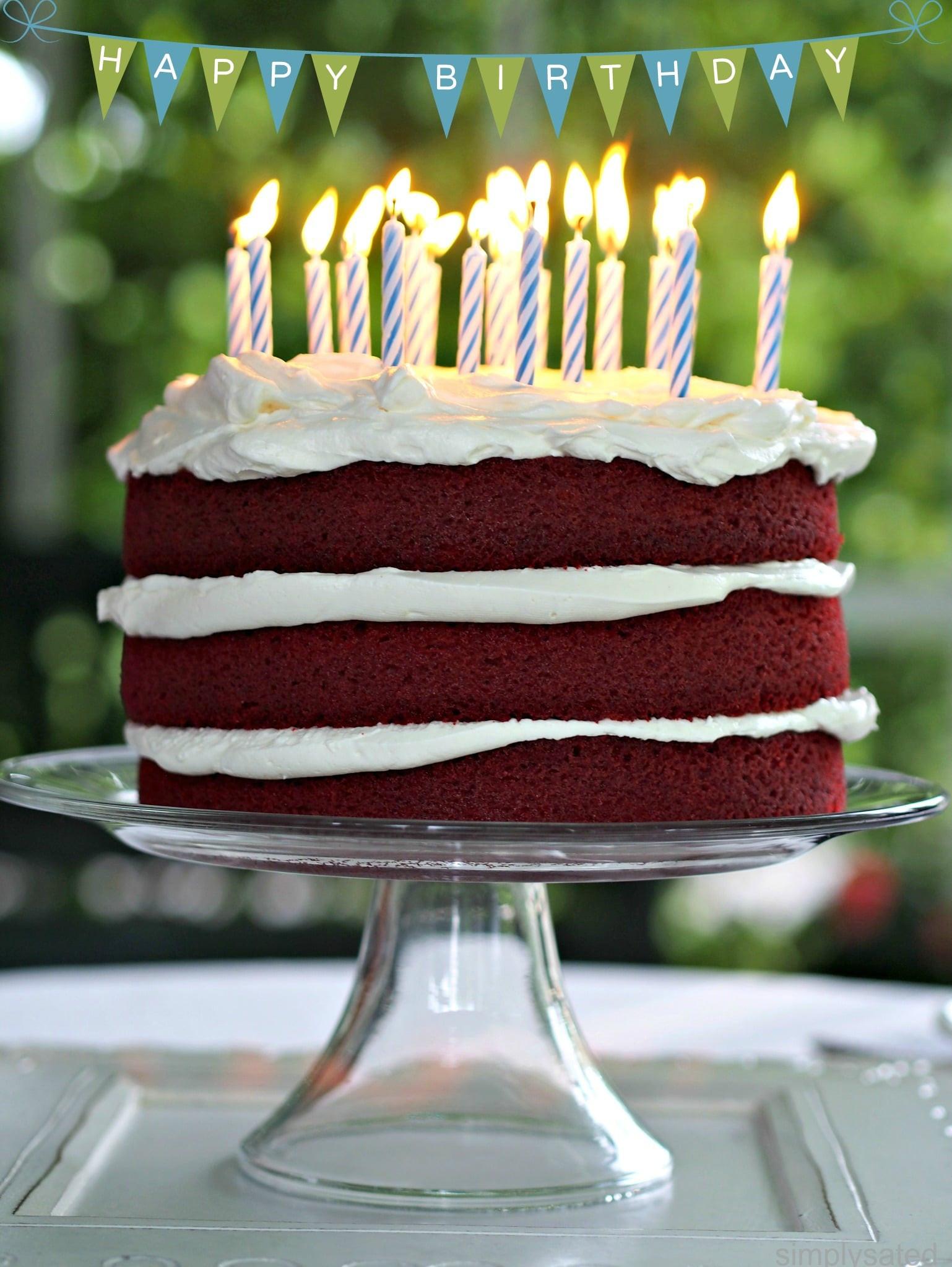 Red Velvet Birthday Cake  Red Velvet Cake Simply Sated