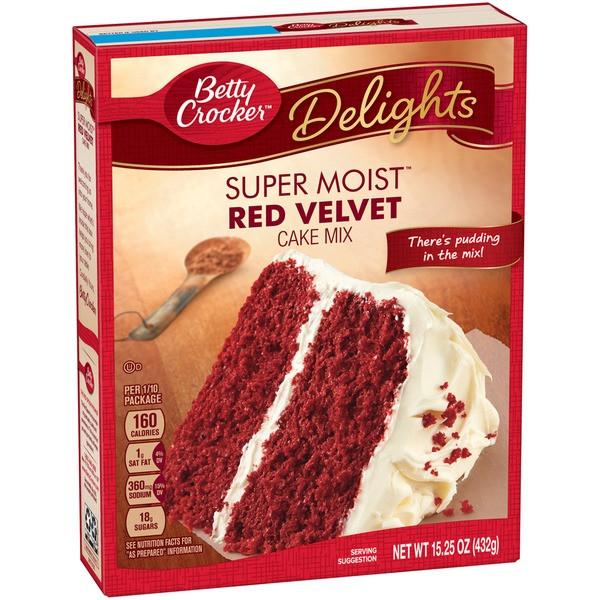 Red Velvet Cake Mix  Betty Crocker Delights Super Moist Red Velvet Cake Mix