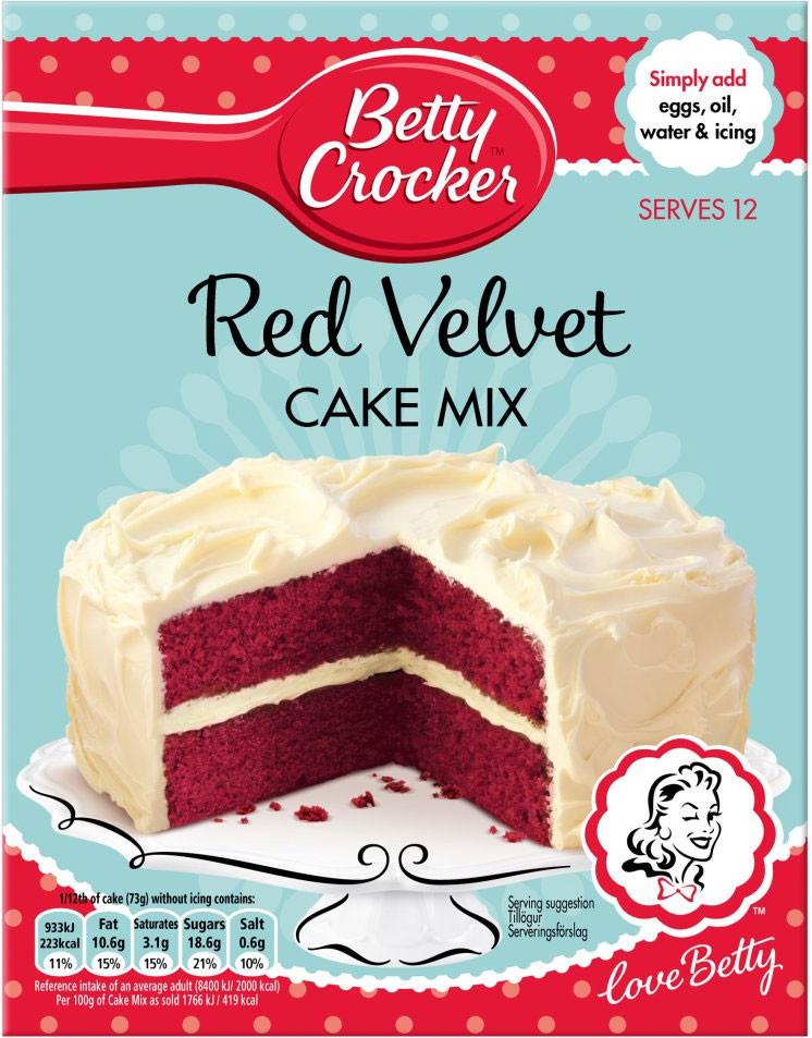Red Velvet Cake Mix  Betty Crocker Red Velvet Cake Mix 450g