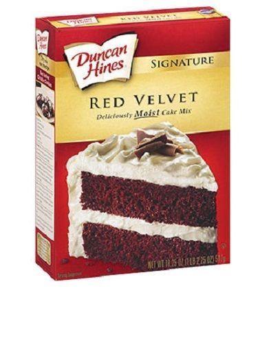 Red Velvet Cake Mix  Duncan Hines Signature Red Velvet Cake Mix 16 5 oz Box