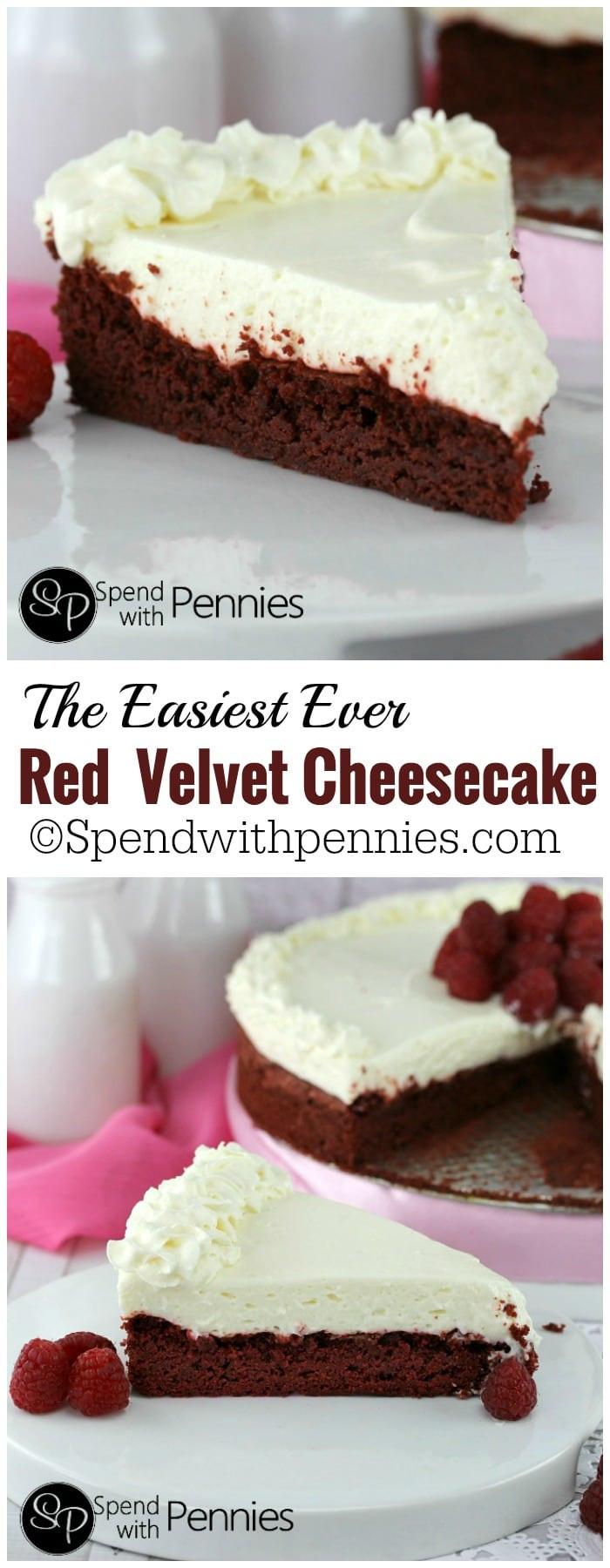 Red Velvet Cheesecake Recipe  Easy Red Velvet Cheesecake Spend With Pennies