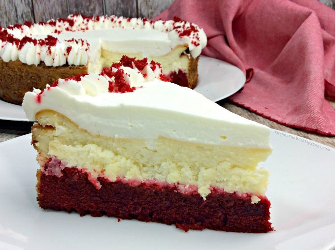 Red Velvet Cheesecake Recipe  Red Velvet Cheesecake Kitchen Fun With My 3 Sons